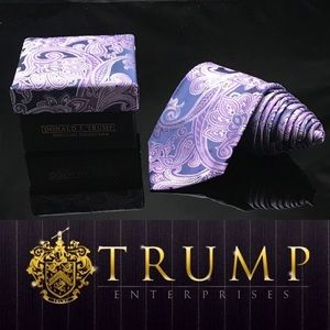 DONALD J. TRUMP~ SIGNATURE COLLECTION  PURPLE TIE